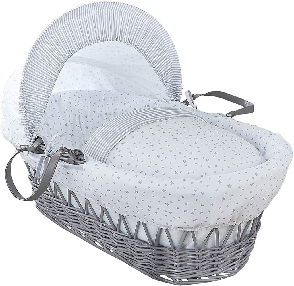 Moses basket bassinet with stand
